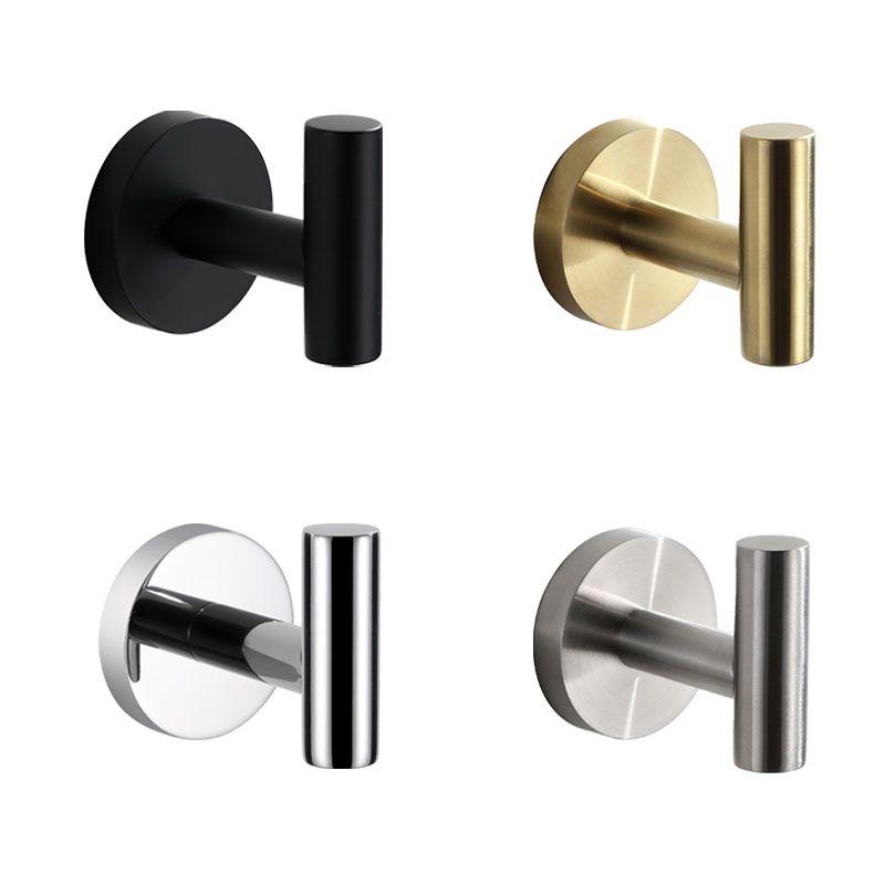 Brushed Gold/Mirror/Black/Brushed Stainless steel Bathroom Robe Hook Round Cloths Hooks Bath Hanger Hook