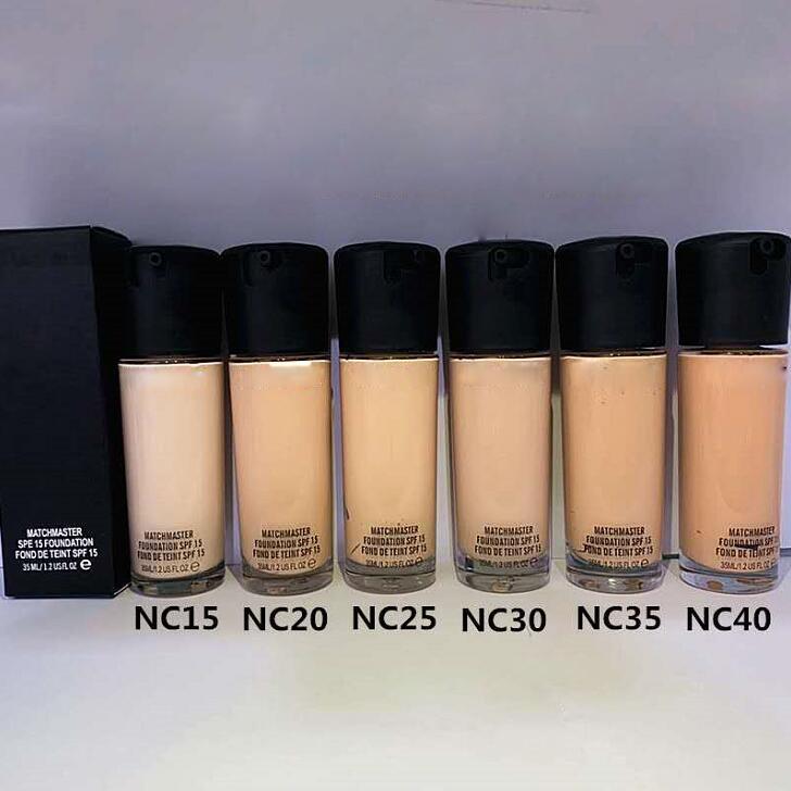 حار ماكياج مؤسسة MC فيكس الموائع 15 مؤسسة السائل 35ML الوجه المخفي فسفورية NC35 NC40 6 ألوان قطرة الشحن