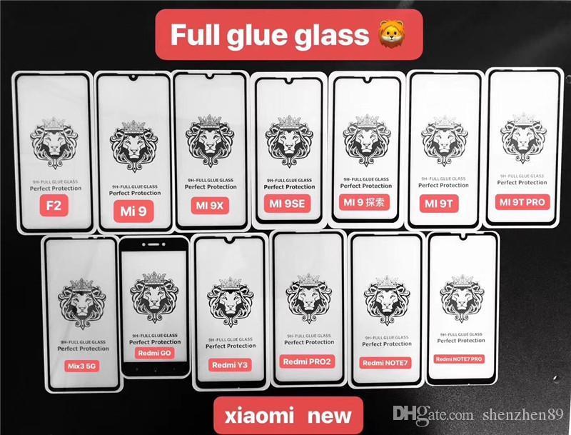 Tam Kapsam Tam Tutkal temperli cam Telefon Ekran Koruyucu Iphone 11 için 2020 iphone XS MAX XR 6 7 8 Artı Samsung A10S A30S M50S S10E A20
