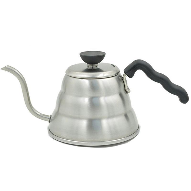 Aço inoxidável Hario Coffee Drip Gooseneck Chaleira Pot Bule Chaleira Chá Garrafa Hight Quality Kitchen Acessório 1000ML T200111