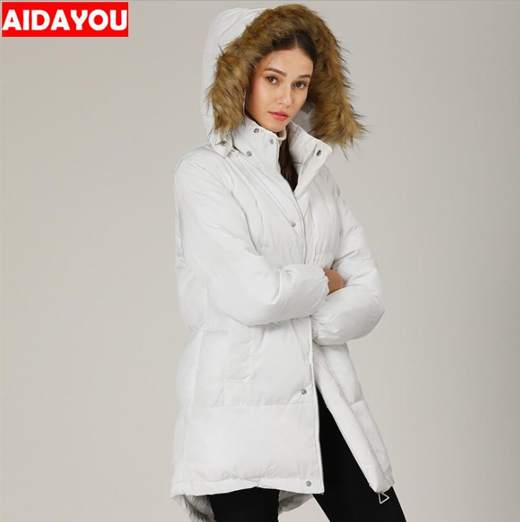 Женская шерстяная куртка теплая зима снег пальто Горный ветровка тренч пальто с шапкой хлопка мягкие парки ouc680
