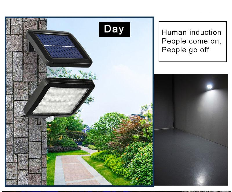2020 New Solar Street Light 56 LED Outdoor Solar Wall Light PIR Motion Sensor Solar Lamp Waterproof Infrared Sensor Garden Light