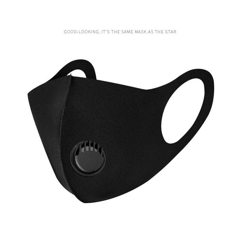الكبار والاطفال الغبار قناع الوجه التنفس صمام قناع أقنعة قابلة لإعادة الاستخدام مكافحة الغبار بالضباب PM2.5 الجليد القطن الحرير ZZA1871 120PCS