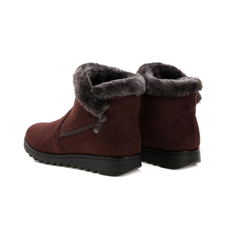 Hot Sale-Huanqiu Donne Stivaletti nuovo modo impermeabile della piattaforma del cuneo di inverno neve calda Stivali Scarpe Per wyq161 Femminile