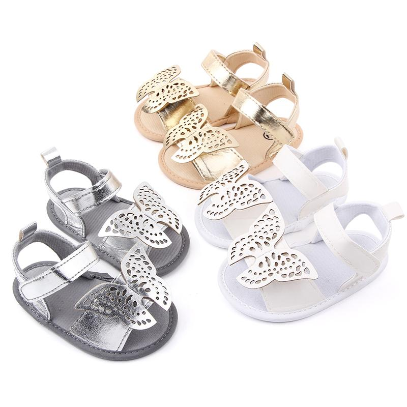 Summer Cute Butterfly Baby Sandals for Boy Girl Soft Pu Leather Toddler Shoes Sandals First Walkers Infant Boys Girls