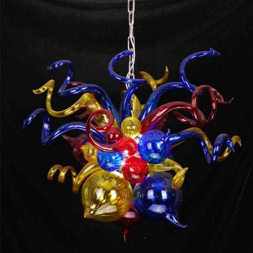 Пузырь стиль мини-люстра огни Бесплатная доставка 110/220 В AC Led старинные муранского стекла необычные кулон