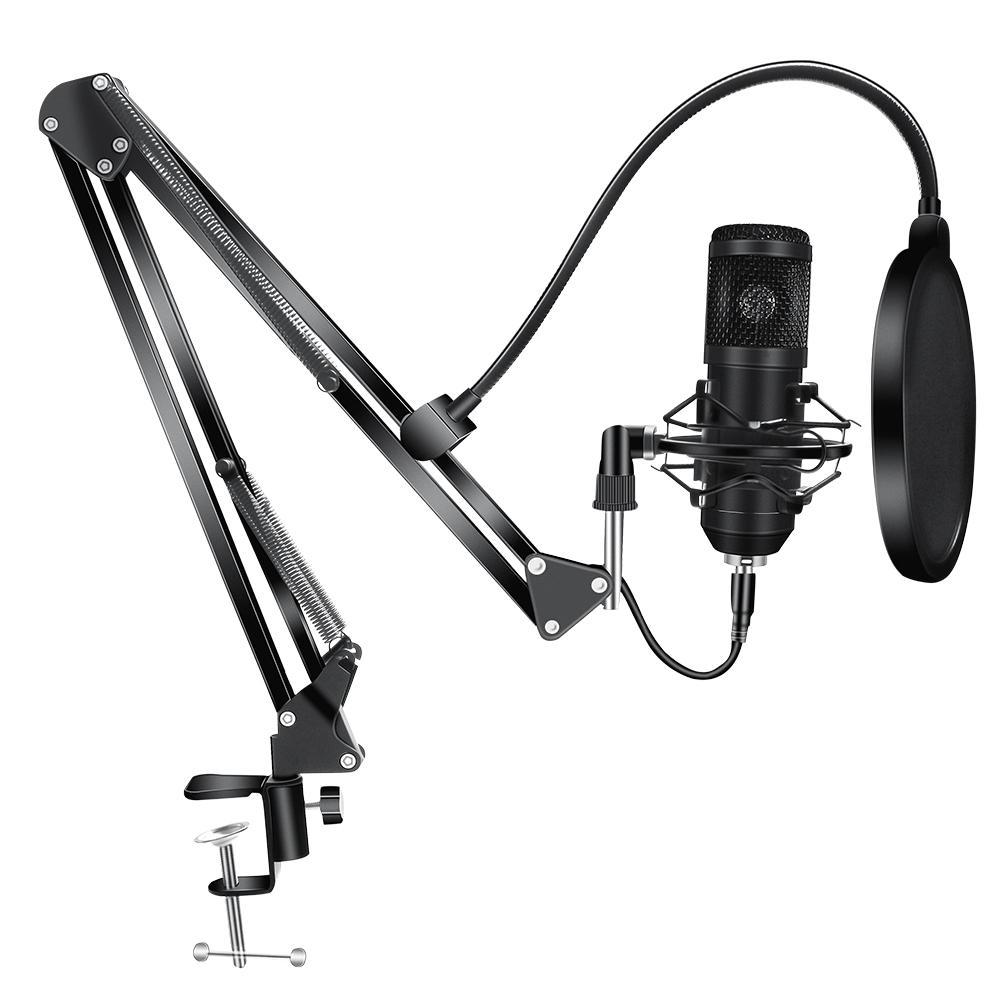 BM800 microfone condensador Kits BM 800 USB para Filtro computador microfone de karaokê Pop para Sound Studio de Gravação Microfone Gamer