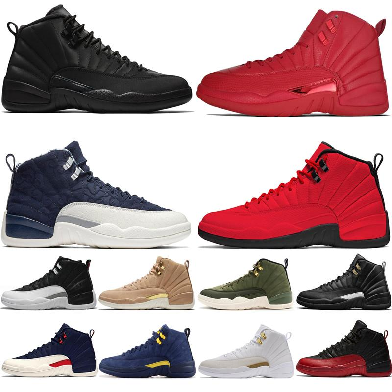 2019 12s hiberné WNTR Gym Red Michigan Hommes Chaussures de basket-ball Le Master Flu Jeu formatrices d'sportifs Taxi 12 hommes chaussures 7-13