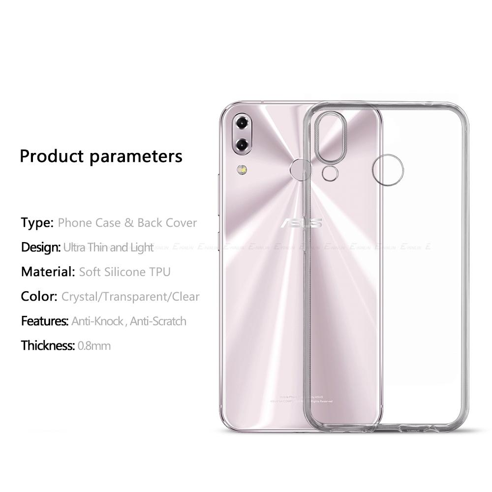 Clear Ultra Thin Soft Silicone Back Cover For Asus ZenFone 6 ZS630KL 5Q Selfie 5 Lite 5Z ZC600KL ZE620KL ZS620KL TPU Phone Case