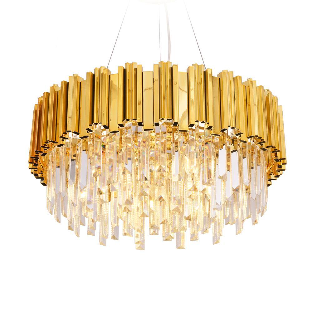 فاخر كريستال الثريا ضوء الذهب كريستال الإضاءة كريستال اللمعان ومينير عن الطعام غرفة المعيشة مطعم مصباح
