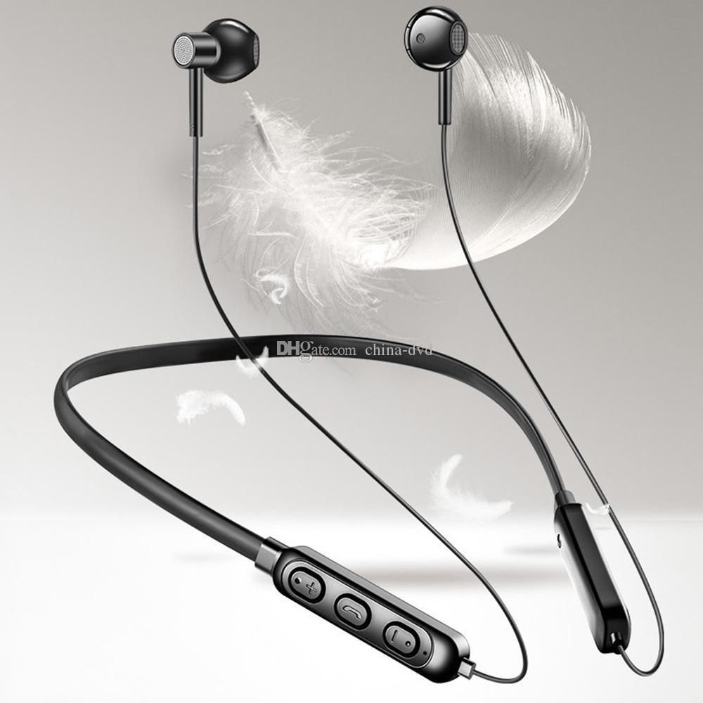 A10 Magnet Esporte Bluetooth Headphones Neck-montado Wired Stereo impermeável fones de ouvido Earbuds Baixo Headset para smartphones com Retail Box