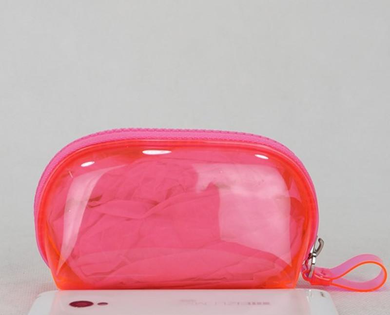 Hot Donne Pink Stripe Famoso Brand Brand Vanity Caso Cosmetico Makeup Organizer Borsa Borsa da toilette Clutch Boutique Coin Borsellù Borsa VIP Regalo