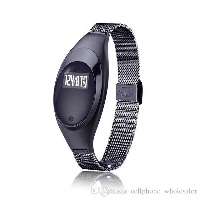 Z18 Smart-Armband-Blutdruck-Blut-Sauerstoff-Puls-Monitor-Tracker Smart Watch Wasserdichtes Bluetooth-Armbanduhr für IOS iPhone und Android
