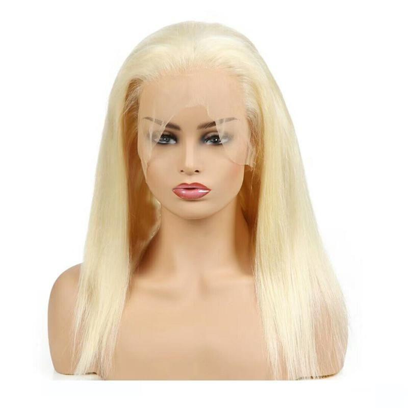 H Virgin capelli umani brasiliani Wigsss 613 Biondo piena del merletto parte anteriore del pizzo Wigsss Sraight umana Wigsss Capelli