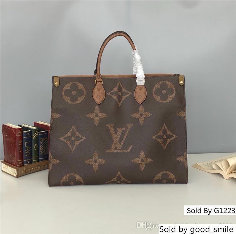Propósito Diseñador entrega solo bolso de alta calidad bolsos mujeres de los hombres S general 44576 Tamaño 41 * 34 * 19cm
