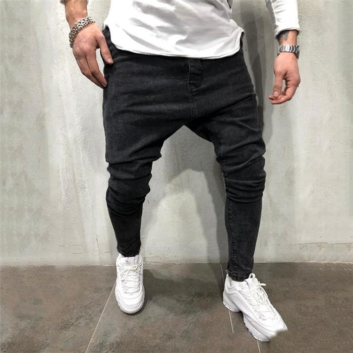 Biker Denim İçin Erkekler Moda Tasarımcısı Hip Hop Erkek Jeans Kalem Pantolon Erkek Biker Jeans Slim Fit Motosiklet Ripped