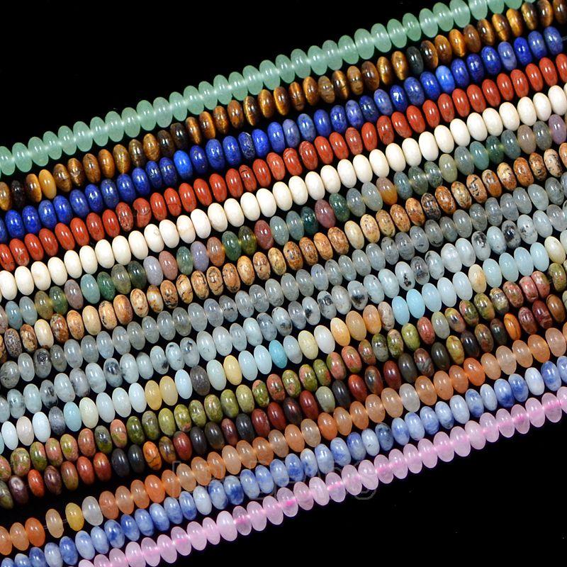 """5Strands / Pack 2x4mm Mode Naturel Pierres Précieuses En Vrac Charme Perles Diy 15.5 """"Lot Conception de Bijoux En Gros"""