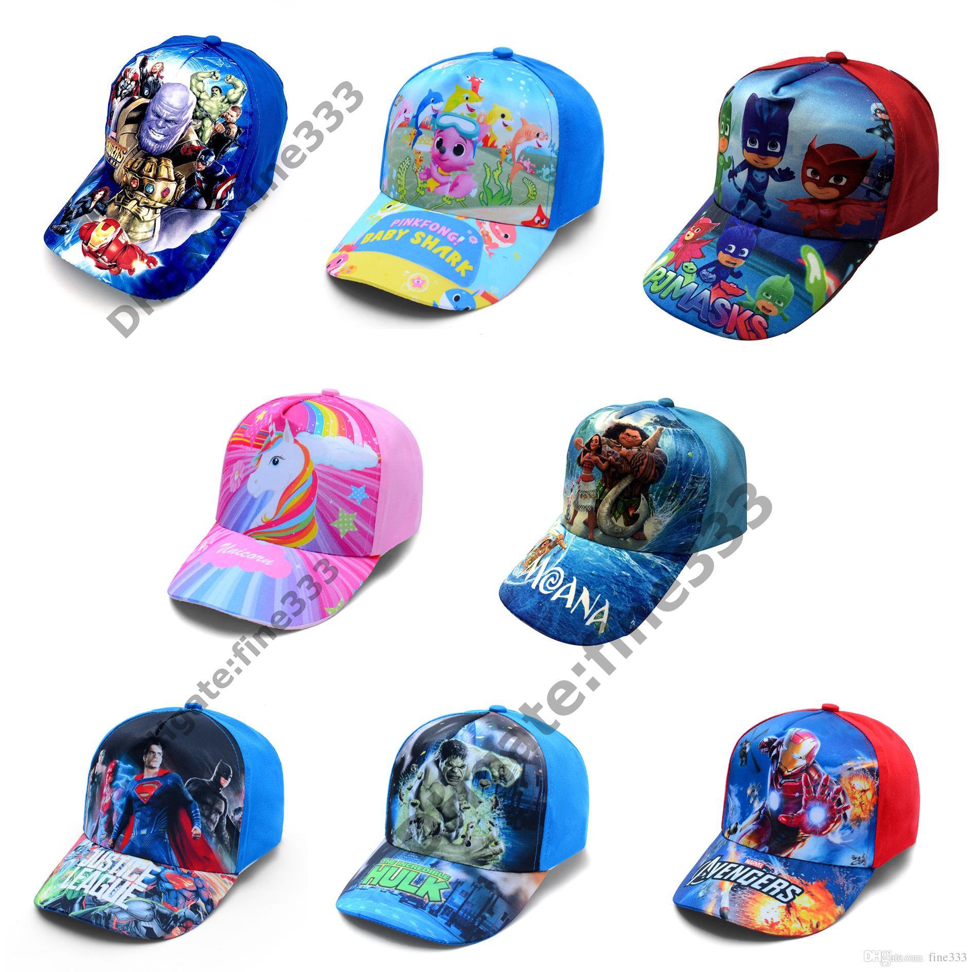 Çocuklar Troller Şapka Çocuklar Beyzbol Caps 72 tasarım Boys kız Karikatür Prenses Güneş Şapka Caps