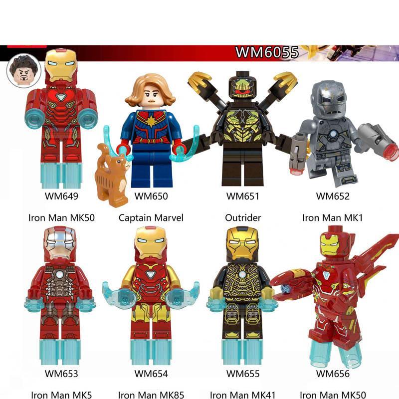 Captain Marvel Mini Figure Marvel Avengers End Game Super Hero Block UK Seller