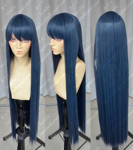 Envío Gratis Danganronpa Maizono saiaka 100 cm azul negro Cosplay fiesta peluca