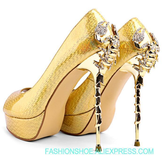 Classic US SIZE High Heels Genuine Suede Stiletto Womens Scorpion Open Toe Shoes