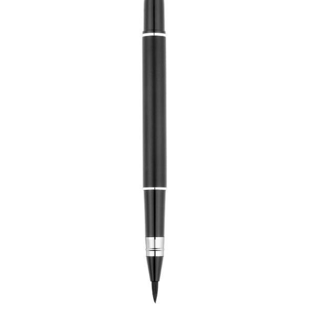نافورة نمط من ركلة جزاء فرشاة غرامة معدن لينة نافورة المحمولة القلم الكبار نسخ الخط الألياف القلم