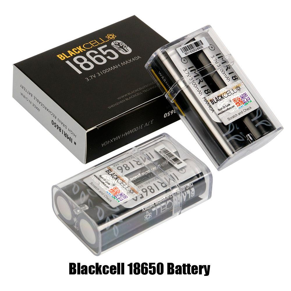 Blackcell IMR18650 batteria 3100mAh 40a 3,7 V ricaricabile batterie al litio batterie al litio piatta alta alta scarico 18650 scatola mod