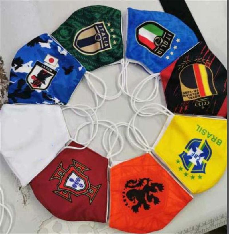 fulamengo masque de football coton usage équipe de football de gros remplaçable à usage unique masque durable club ventes Masque de fashiona Protect