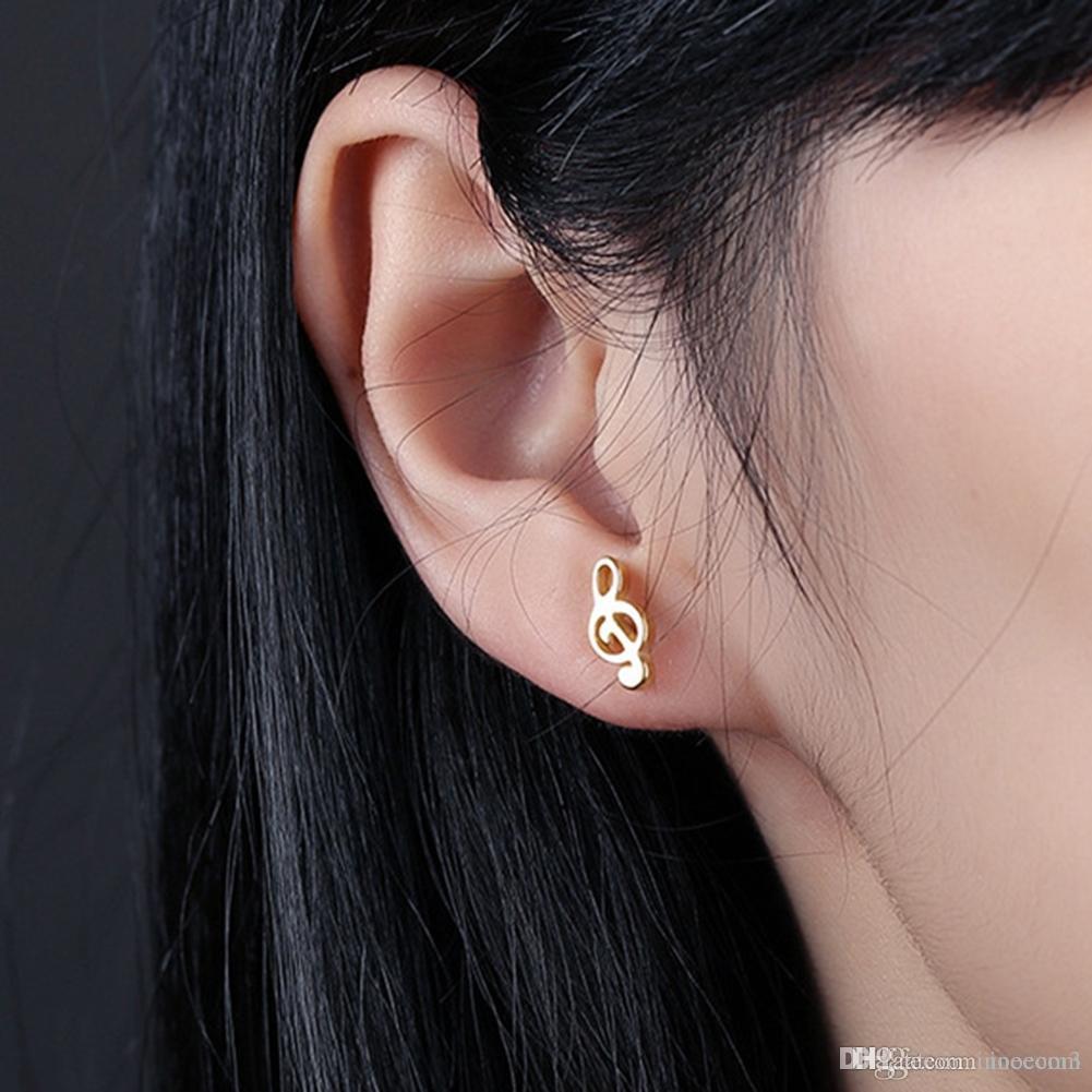 10PCS Men Music Notes Fake Ear Plug Barbell Earrings Gauge Flesh Tunnel Cheater piercings Ear Stretcher Expander Body Jewelry