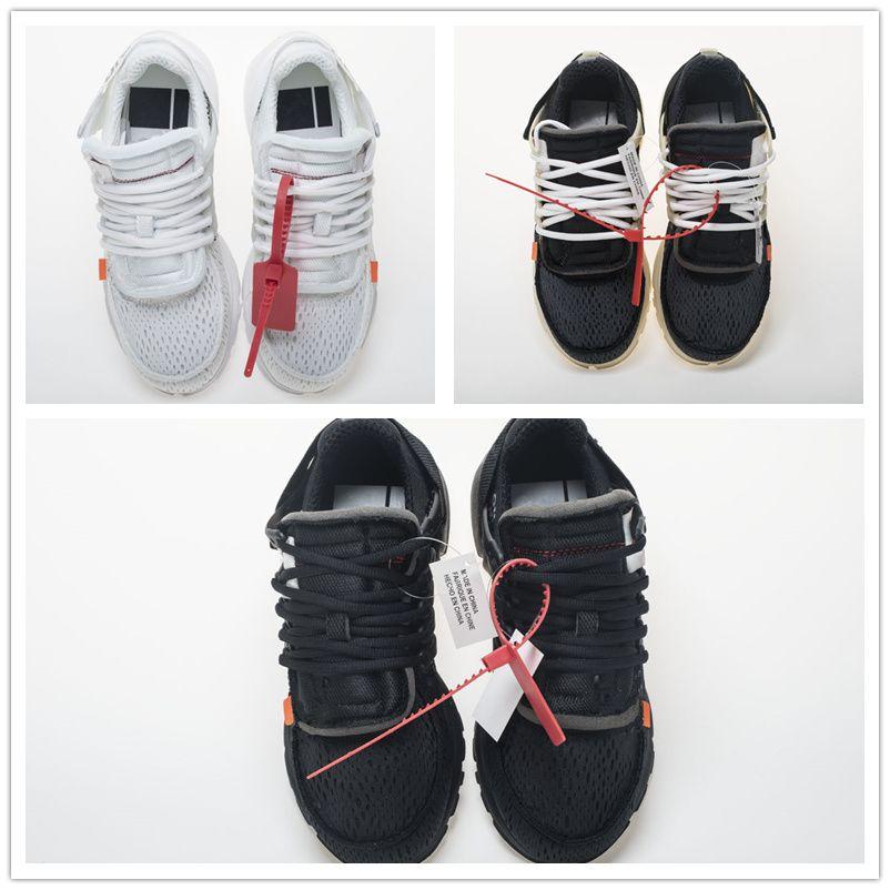 الجملة Prestos 2.0 الاحذية الأبيض رجل إمرأة 10 مصمم ثلاثية أبيض أسود حذاء رياضة تنفس AA3830 حجم لنا 5.5-11