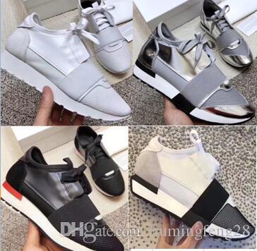 Balenciaga hommes de mode chaussures femmes Casual Design Chaussures en mesh respirant Arena Race Chaussures Runner extérieur Baskets Chaussures de sport avec la boîte