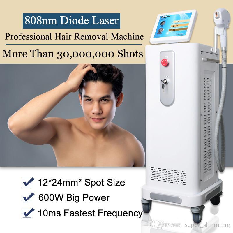 FDA aprovou 808nm Laser máquina remoção de pêlos diodo rápido de cabelo permanente diodo laser equipamentos de beleza