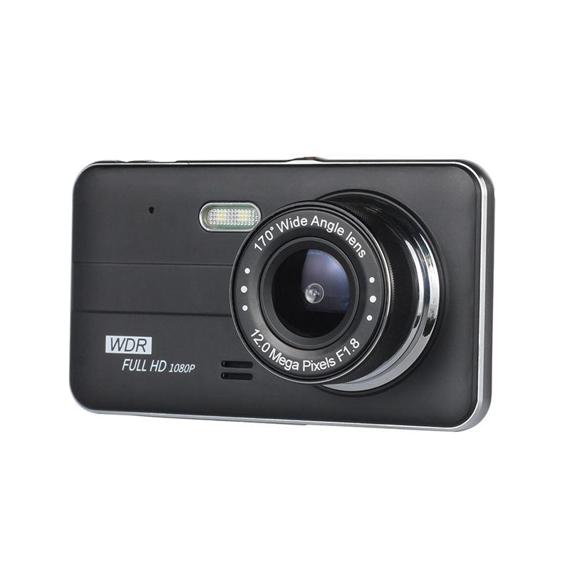 """4"""" automobile DVR veicolo video registrator 1080P che guida registratore completi doppia fotocamera HD 2Cr anteriore 170 ° ° visione notturna grandangolare retrovisore 120"""