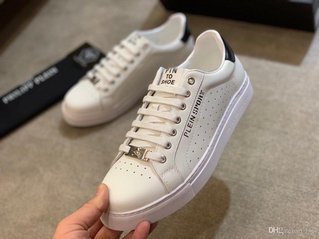 2020 zapatillas deporte Lujo pelle bianca con superficie forata e design di lusso traspirante marchi scarpe casual
