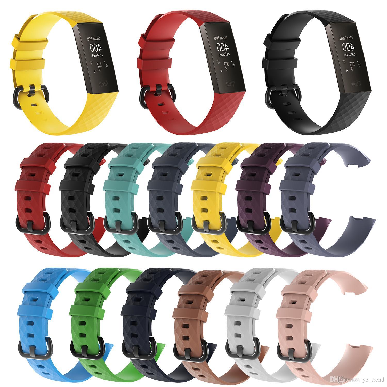 Fitbit 충전 용 실리콘 시계 밴드 스트랩 3 피트니스 액티비티 트래커 Smartwatch 교체 스포츠 손목 밴드 스트랩