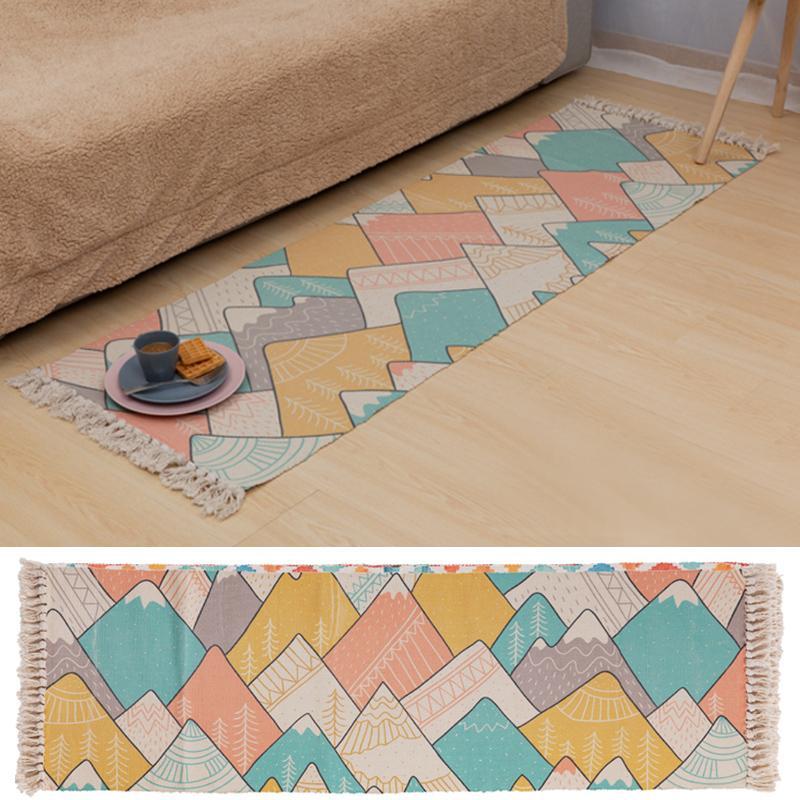 Pamuk Halı Nordic Stil Kanepe Halı Dekoratif Mat Çoklu Boyut Tepesi Mutfak Ev Salon Kat Yatak Odası