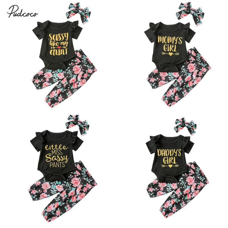 4styles Summer Infant ребёнки с коротким рукавом Письмо печатных Romper Цветочные Брюки стяжкой Эпикировка