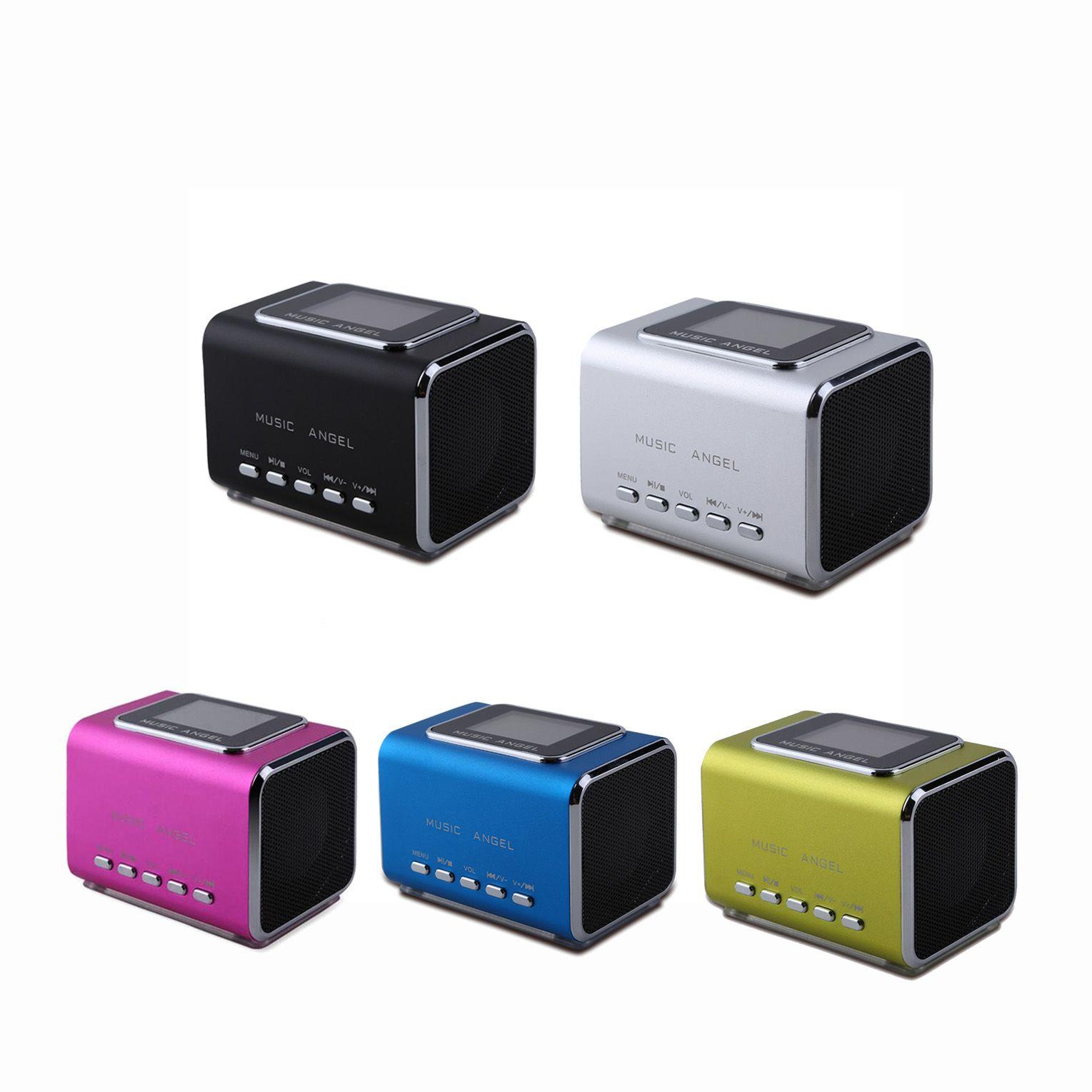 LCD-tragbare FM-Radio-PC-Lautsprecher unterstützen USB / TF-Karte / Zeile in MP3-Player-Uhr-Alarm Altavoz Origianl Music Angel JH-MD05X