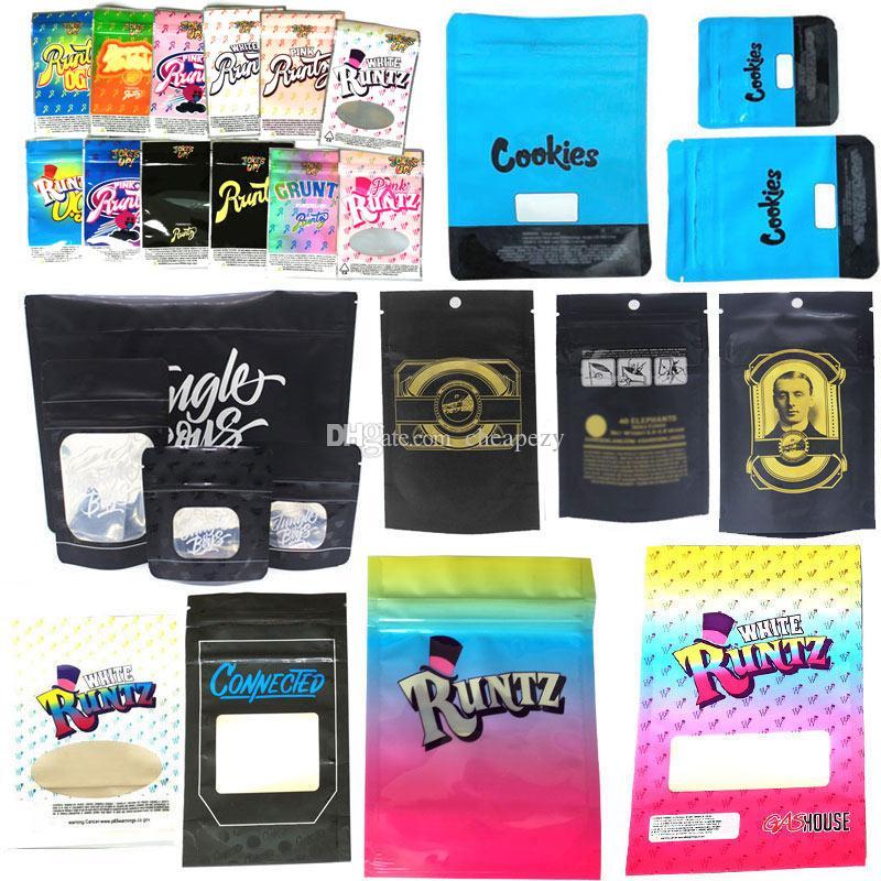 Runtz Chuckles Zipper Borse Cookie Collegato ragazzi Jungle Garrison Lane, Alien Labs Pacchetto E Cig DHL