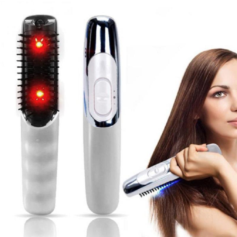 2019 Electric Infrared Massage Comb Laser Antistatic Anti-Hair Loss Scalp Massage Comb Hair Growth Treatment Brush