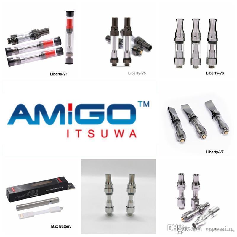 Vapouring Hot Vente Itsuwa Amigo V1 V5 Liberté réservoir V6 V7 V8 V9 Cartouches pour huile épaisse en céramique tactile Vaporizer Coil 100% authentique 1
