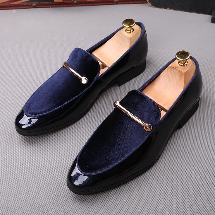 Sıcak satış-İtalyan moda zarif oxford ayakkabı erkek ayakkabı için büyük boyutları erkekler resmi ayakkabı deri erkek elbise loafer'lar adam masculino üzerinde kayma