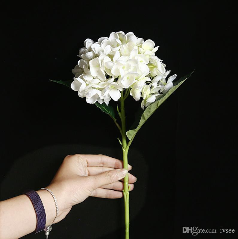 수국 인공 꽃 화이트 그린, 핑크 감청색에 결혼 장식 홈 장식 결혼 부케 줄기와 꽃다발과 잎을 결혼