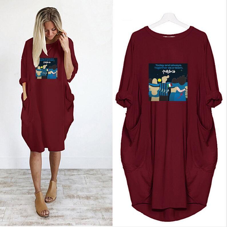 LOGO Mektupları İlkbahar Yaz Marka Etekler Yüksek Kalite Kadın Giyim 6 Renkler İsteğe ile Kadınlar Elbise İçin 2020 DIY dizayn edilmiş elbiseler