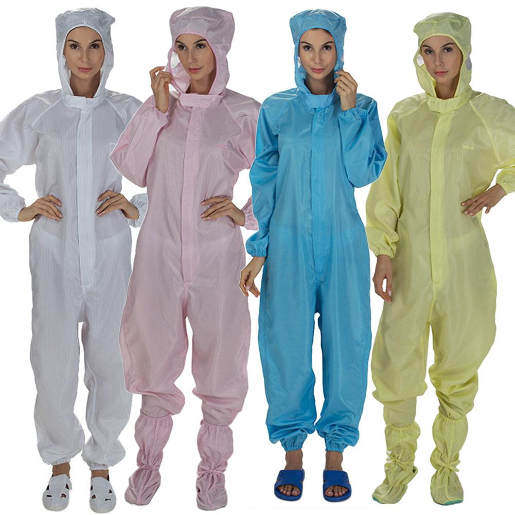 Disposable Coverall Isolation Suit Safety Clothing Hospital Protective Clothing White Dust-Proof Coveralls Antistatic XL