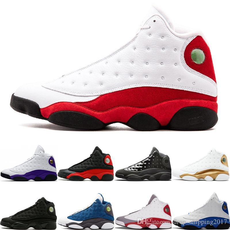 Toptan 13 XIII Moda Basketbol Ayakkabı Chicago Lakers Rakipleri cap ve cüppe bred gri ayak Tasarımcı Erkek Spor Sneakers Boyut 7-13