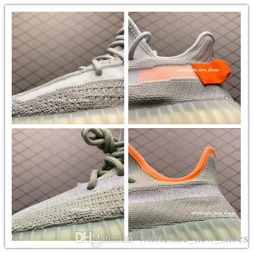 2020 new Yeehu yecheil black static 3M Reflective kanye west running shoes gid glow true form clay butter men women designer sneakers