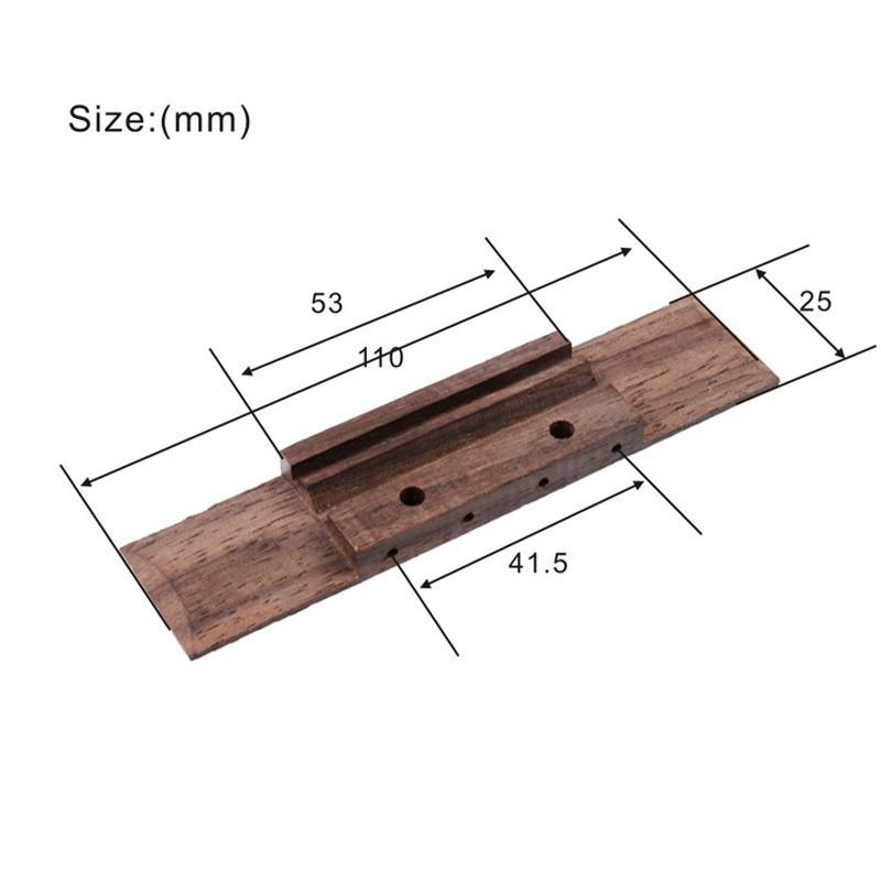 5Pcs Ukulele Rosewood Bridge Slotted for 4 String Ukulele 110x25x53mm Ukulele Parts