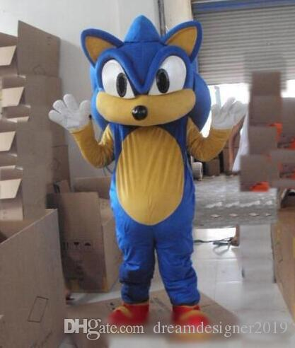 Sonic The Hedgehog Cosplay Sonic Mascot Costume Cosplay Fancy Dress Adults Suit