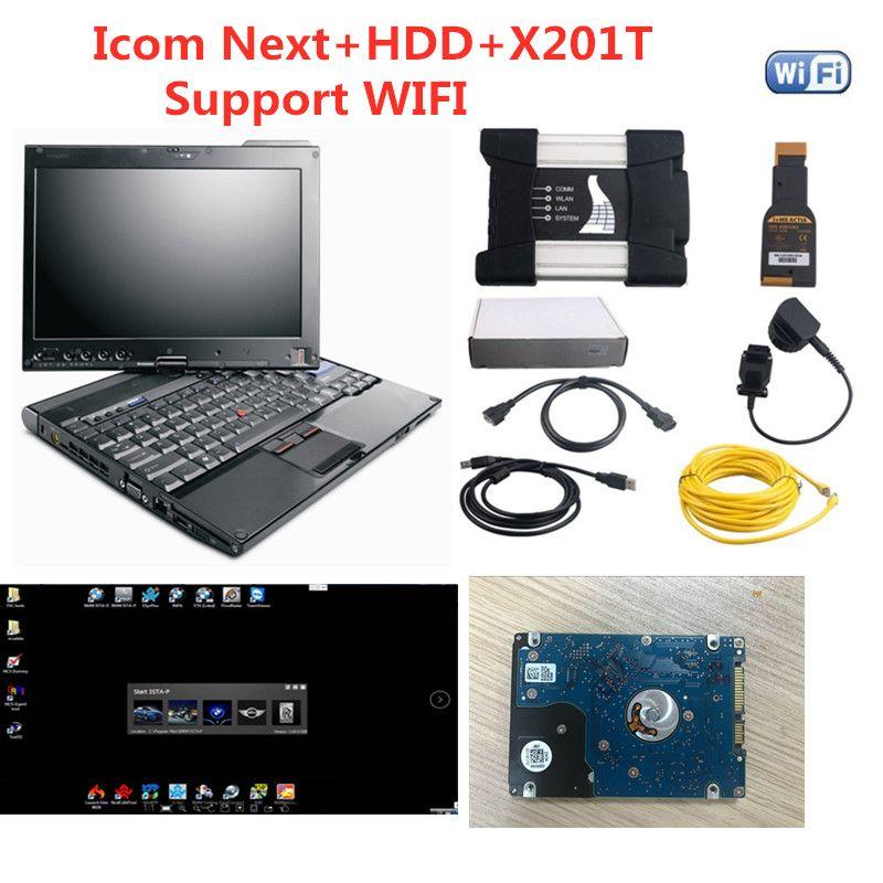 2020 para a ferramenta de programação de diagnóstico de BMW ICM WiFi ICom em seguida A B C 500GB Software com laptop x201t i5cpu pronto para uso